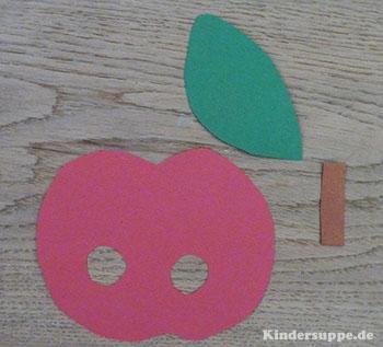 Apfel Bastelidee fur Kindergarten