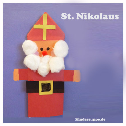 ST. Nikolaus Bastelarbeit Kinder