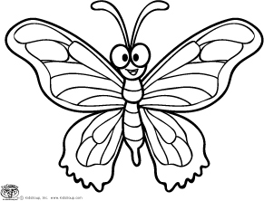 Coloring pages of butterflies to print