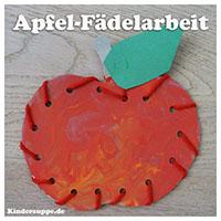 Projekt der apfel kindergarten und kita ideen for Apfel basteln herbst