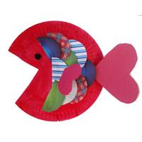 Der Regenbogenfisch basteln
