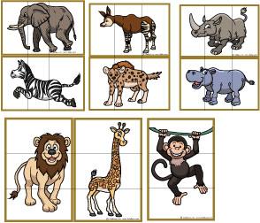 tiere im zoo kindergarten
