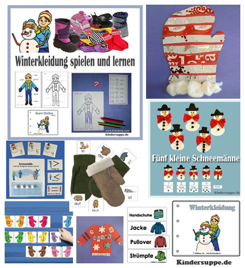 Winter und Winterkleidung Ideen fur Kindergarten