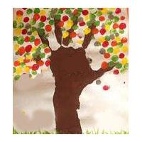 Herbstbaum Bastelarbeit