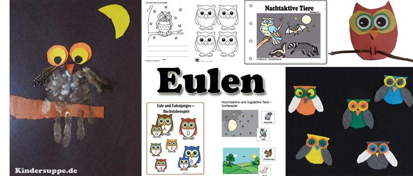 Projekt Eule Bastelideen und Spiele fur Kindergarten und Kita