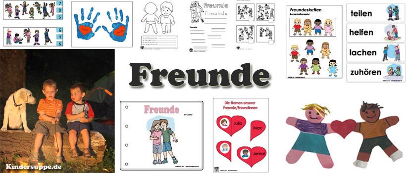Kindergarten Ideen zum Projekt und Thema Freunde und Freundschaft