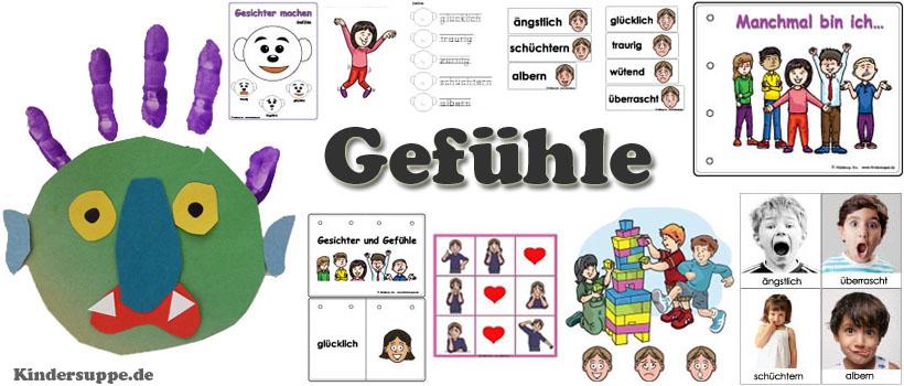 Projekt Gefühle und Emotionen Ideen für Kindergarten und Kita