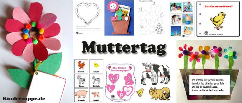 Muttertag Basteln und Spielen Ideen für Kindergarten und Kita