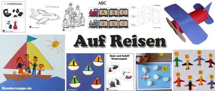 Zug, Schiff, Flugzeug und Thema Reisen Ideen fur Kindergarten und Kita