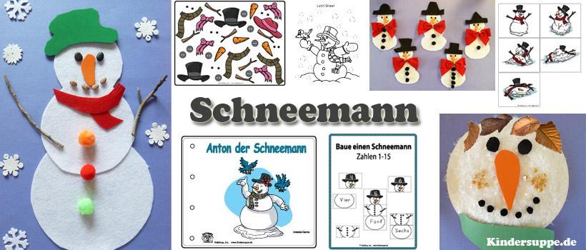 Schnee und Schneemann Basteln und Spiel-Ideen fur Kindergarten und Kita