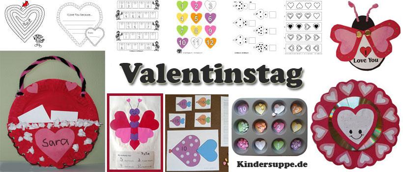 Valentinstag Ideen für Kindergarten und Kita