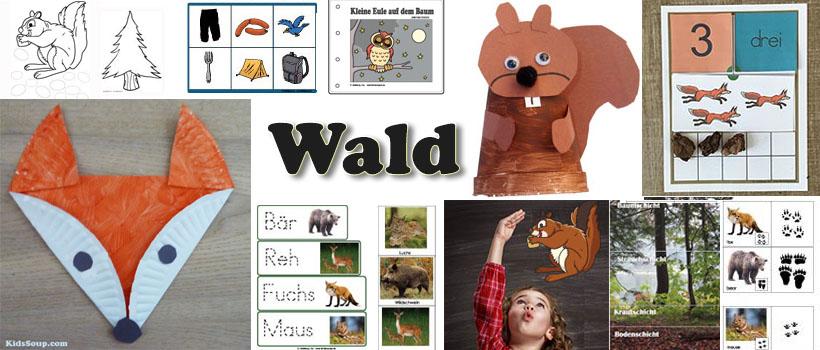 Wald und Waldtiere Ideen für Kindergarten und Kita