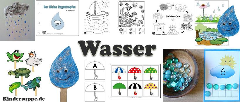 Projekt Wasser Ideen und Bastelideen für Kindergarten und Kita