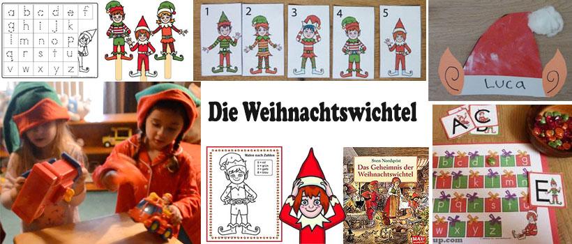 Wichtel und Weihnachtswichtel Spiele, Lieder, und basteln für Kinder