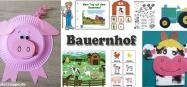 Kindergarten Projekt Bauernhof Ideen Basteln und Spielen
