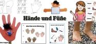 Projekt Hand und Fuss basteln und Spiele fur Kindergarten und Kita