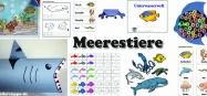 Meer und Meerestiere Basteln und Spiel-Ideen fuer Kindergarten und Kita