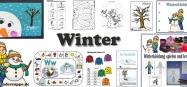 Winter Kindergarten und Kita Bastel-Ideen und Spiele