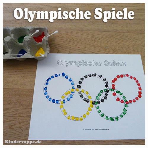 Olympische Spiele Basteln und Lernen für Kinder