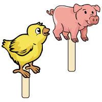 Projekt tierkinder auf dem bauernhof kindergarten und kita ideen - Spielfiguren basteln ...