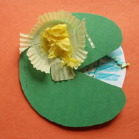Frog On Lily Pad Craft