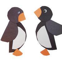 Projekt zoo kindergarten und kita ideen - Pinguin basteln vorlage ...