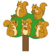 Eichhörnchen Kreisspiel