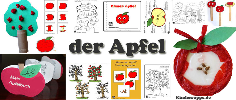 projekt der apfel kindergarten und kita ideen. Black Bedroom Furniture Sets. Home Design Ideas