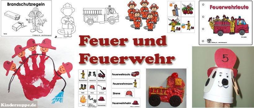 Projekt Feuerwehr Kindergarten und Kita basteln und Spielideen