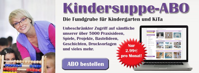 Kindersuppe-ABO für Kindergarten und Kita erwerben