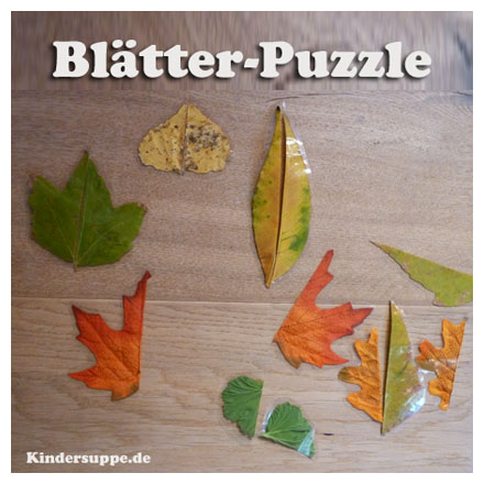 Blätter und Herbst-Bastelidee fur Kindergarten und Kita