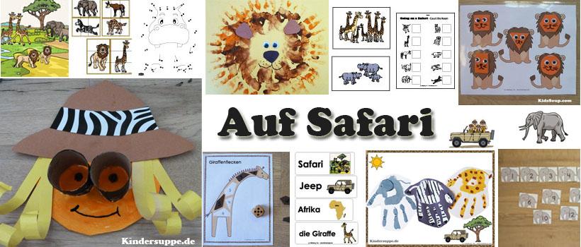 Safari und Elefanten Kindergarten und Kita Ideen