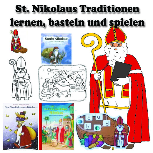 st nikolaus kindergarten und kita basteln und spiel ideen. Black Bedroom Furniture Sets. Home Design Ideas