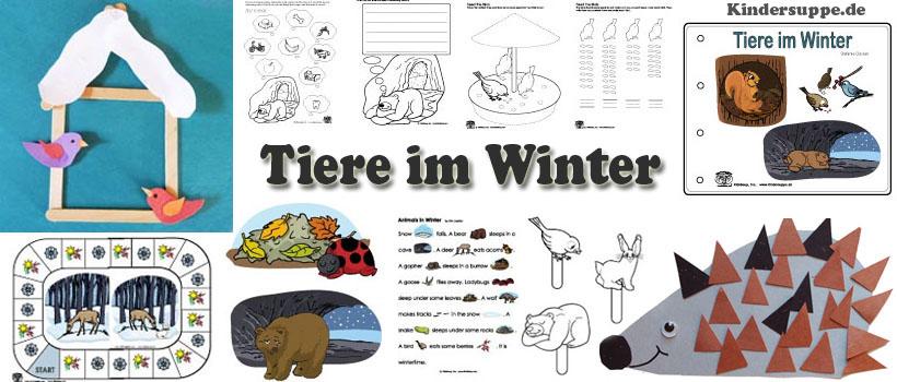 Tiere im Winter: Ideen und Spiele für Kindergarten und Kita