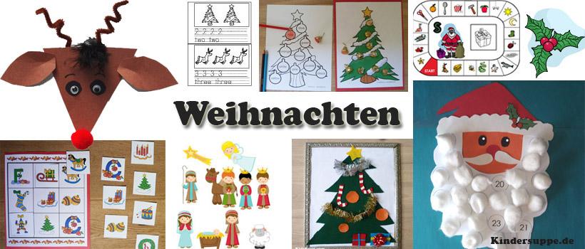 Weihnachten Kindergarten und Kita Basteln und SpielIdeen