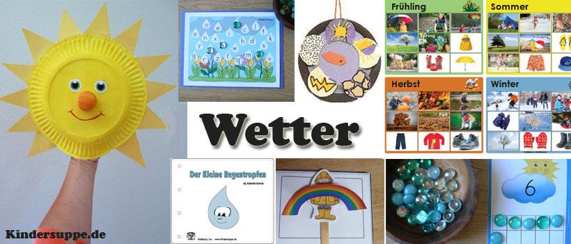 Das Wetter, Regenbogen basteln, lernen, Spiele, und