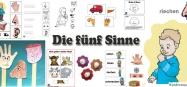 Kindergarten Projekt die fünf Sinne Ideen zum Basteln und Spielen