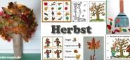 Projekt Herbst Ideen zum Basteln und Spiele fur Kindergarten und Kita