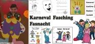 Karneval-Fasnacht-Kindergarten Ideen Basteln und Spiele